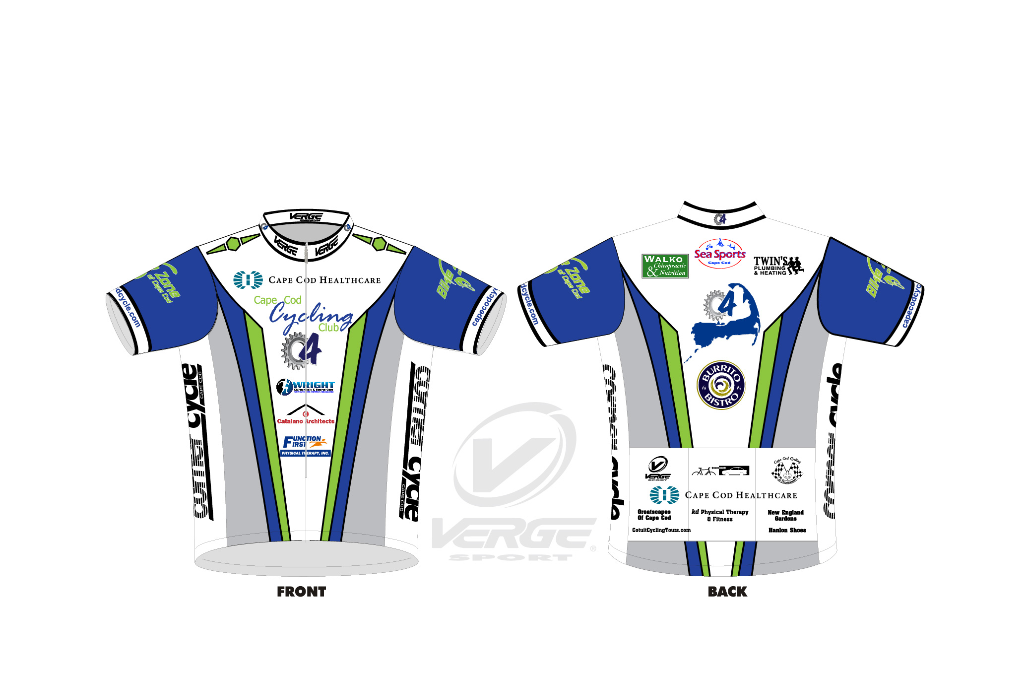 Cape Cod Cycling Club 20465 - Club Jersey #2